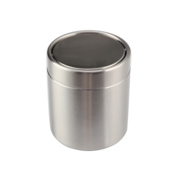 Brushed Stainless Steel Mini Countertop Trash Can