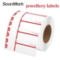 Custom Jewellery Thermal Barcode Tags Price Label Sticker