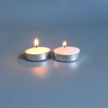 Round Shaped Pure Wax White Tea Light Candles