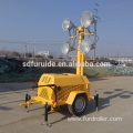 Long Lasting Mobile Trailer Mounted LED Light Towers