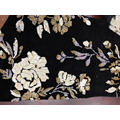 Big Flowers Sequin Mesh Embroider Fabric