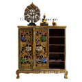 luxury furniture wooden furniture designs Thailand Antique Style Corner Shoes Cabinet