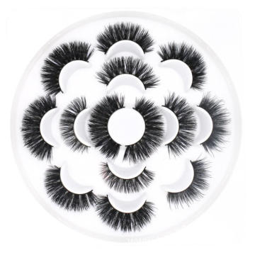 2019 New Arrival flower eyelash pad hot sale 3d real mink fur eye lashes