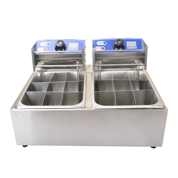 2 Tank Electric Oden Fryer