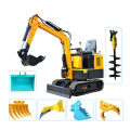 1.8t 1.0t digging machine mini towable excavator price