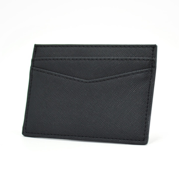 New Arrive Pu Saffiano Leather ID Card Holder