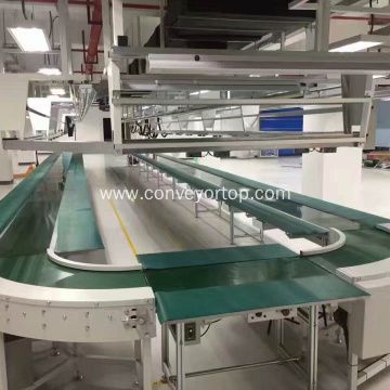 Customized 90 Degree Turn Curve Conveyor Assembly Line