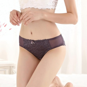 Girlish sexy transparent ladies underwear panties