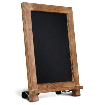 Torched Wood Tabletop Chalkboard