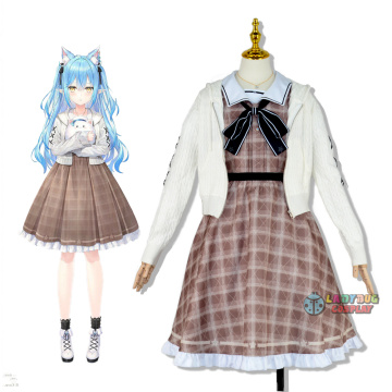 Hololive Vtuber Yukihana Lamy Cosplay Costume