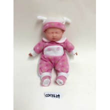 "12"" Pink And White Clothes Baby Doll"