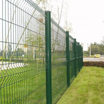 galvanized curved welded garden fence