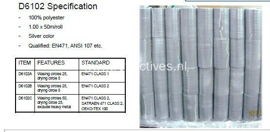 Silver Polyester Reflective Fabric for Safety Clothing