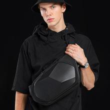 Travel Chest Men Messengers Bag Waterproof Chest Pack Crossbody Waist Bag Male Unisex Siling Diamond Shape Hard Locomotive Style