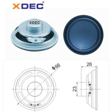 66mm 4ohm 5w neodymium full range speaker