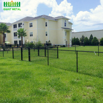 Grass green coated used chain link fence