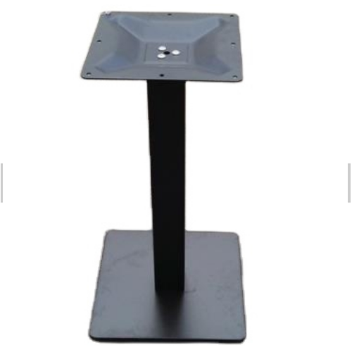 black square steel table base for indoor