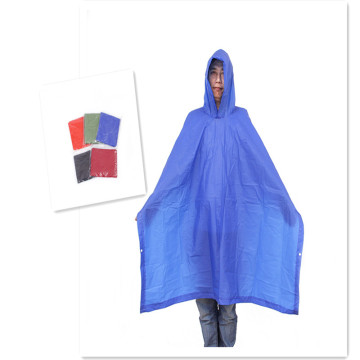 Adult Blue Color PVC Rain Ponchos