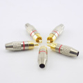 5pcs/10pcs RCA Male Plug to cabling Connector Adapter Audio Video Cable CCTV camera Non Solder Gold Plated Accessories