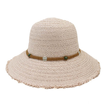 Outdoor party classy women straw hat top cap