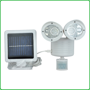 Hot sell LED Solar Sensor Ultrasonic Spotlight/22pcs LED