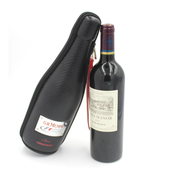 Factory price fancy carrying eva wine bottle case with zipper
