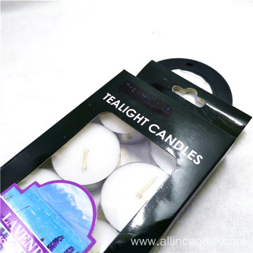 High quality tea light candles colored tealights