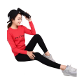 Womens Embroidered or Printed Logo Slim Pullover Sweatshirts