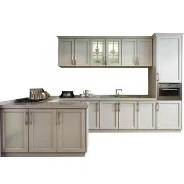 luxury ivory color modular kitchen cabinet