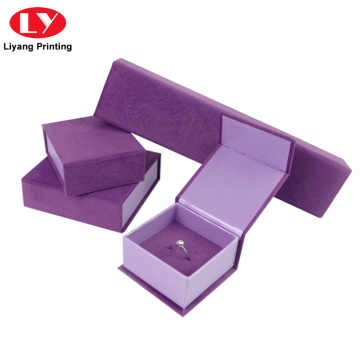 Luxury Custom Velvet Jewelry Packaging Set Box