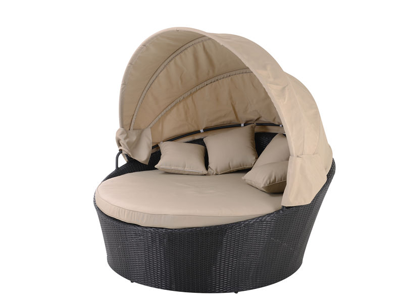 rattan round out door sofa bed S2201