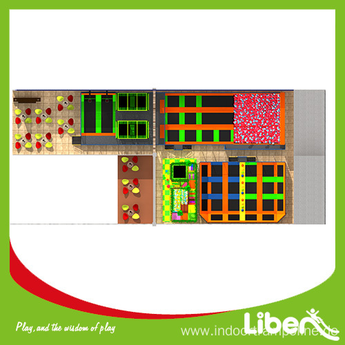 commercial indoor trampoline park equipment cost
