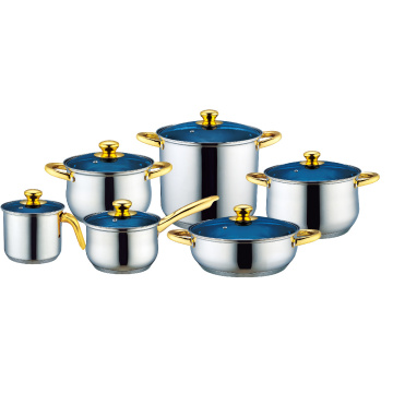 Stainless Steel Cookware with Milk Pot