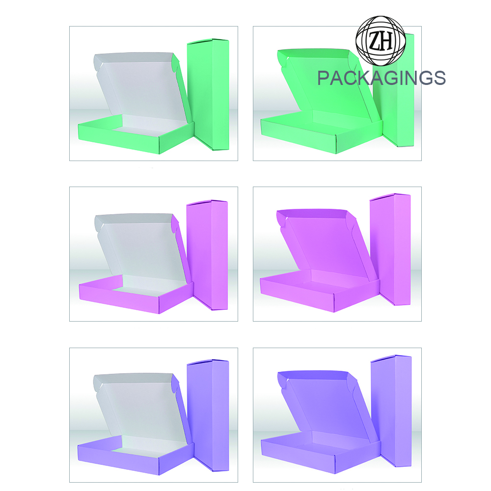 Foldable coat mailer packaging box new design