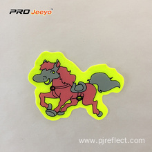 Reflective Adhesive Pvc Horse Shape Stickers For Children