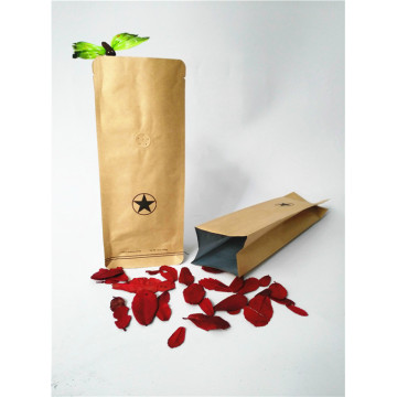 Kraft Paper Coffee Side Gusset Pouch