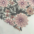 Classic Multicolor Flower Chemical Lace Embroidery Fabric