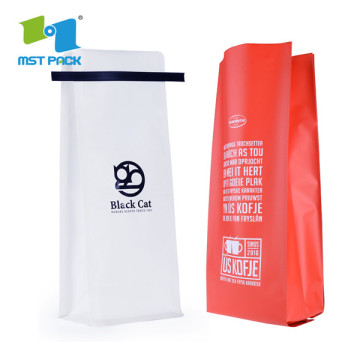 Eco-Friendly Coffee Bags Tin Tie Custom Printing Packaging