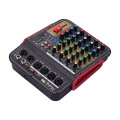 Muslady TM4 Quality 4-Channel Audio Mixer Mixing Console with BT Function Audio System for Studio Recording Broadcasting
