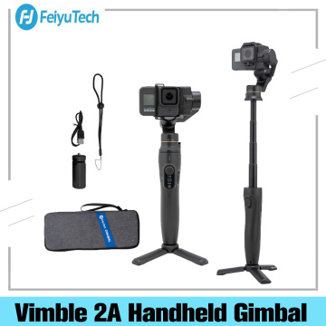 Feiyu Vimble 2A 3-Axis Action Camera Handheld Gimbal Stabilizer With 180mm Extension Pole And Tripod For GoPro Hero 8/7/6/5