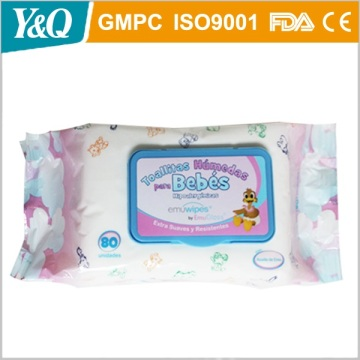 Biodegradable 100% Organic Bamboo Baby Wet Wipes