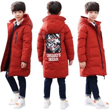 Boys Winter Thicken Long-sleeved Coat