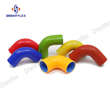 Bendable oil resistant 76mm silicone elbow hose