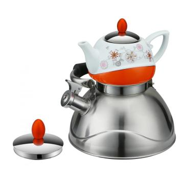 Double Whistling Kettle  Orange Serious