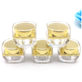 Wholesale acrylic clear golden cosmetic cream jars with good price