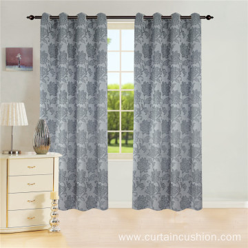 Wholesale New Design Polyester Jacquard Grommet Curtains