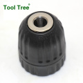 0.8-10mm 3/8-24UNF keyless drill chuck with Hex shank
