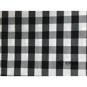 High Quality White And Black Check Cotton Fabric