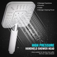 ABS Chrome Rainfall High Pressure Hand Shower
