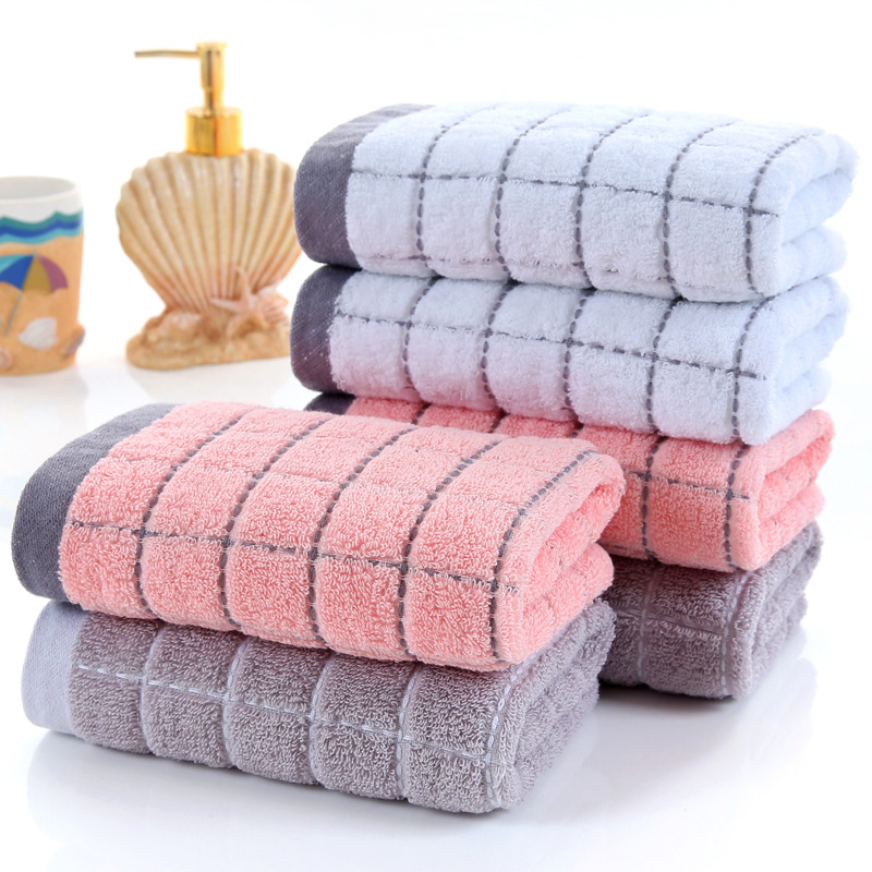Manufacturer direct sale towel lover men towel plaid jacquard labor protection towel